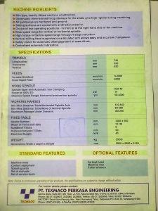 Spesifikasi Milling CNC Perkasa