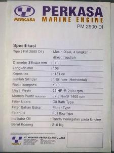 Spesifikasi PM 2500 DI