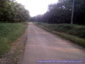 jalan aspal rusak berkerikil