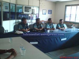 Empat Orang Perwira Menengah dari AAL Surabaya melakukan studi banding