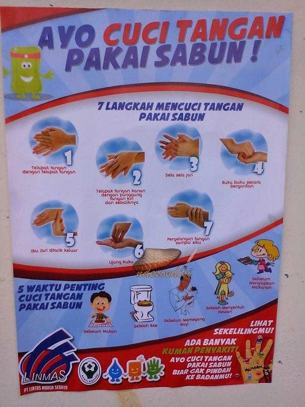 Poster Cuci Tangan Pake Sabun