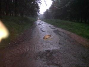 kondisi jalan tergenang air