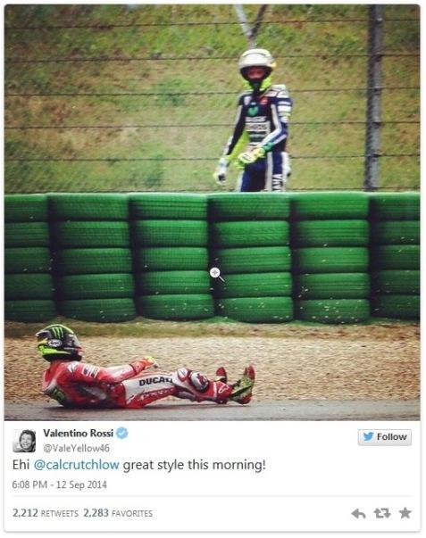 Valentino Rossi, Twitter, San Marino MotoGP, Friday practice
