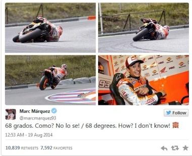 Marc Marquez, Twitter, Brno MotoGP Test