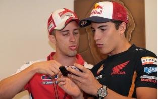 Andrea Dovizioso and Marc Marquez, Indianapolis MotoGP