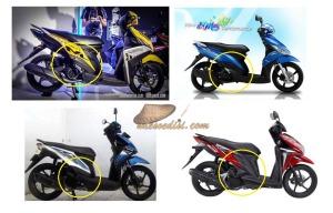 Perbandingan bodi metik Yamaha vs Honda