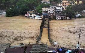 ilustrasi banjir di India