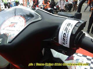 persiapan acara motor disegel