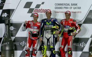 Trio Italian di podium race perdana