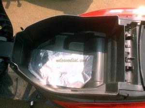bagasi 14 liter lumayan luas