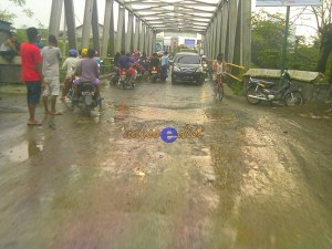 jalur mudik Brebes, kondisi jembatan kali Babakan Ketanggungan-Brebes