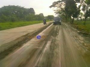 jalur mudik, Jalur Ketanggungan-Larangan masih dalam perbaikan