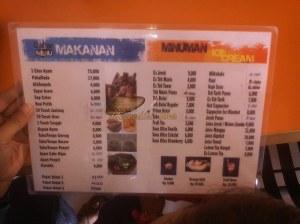 menu RM. Alas Demang Cirebon