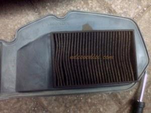 Filter Udara Original Vario 125 sudah sangat kotor