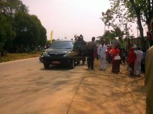 para Pejabat di Kecamatan Cipeundeuy didepan panggung kehormatan
