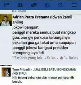menghina Presiden & kang Ridwan Kamil