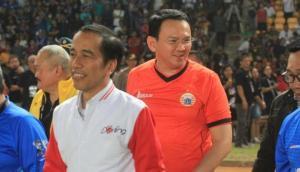 Jokowi -Ahok menonton laga final Piala Presiden 2015