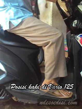 Posisi kaki Nde naik Vario 125