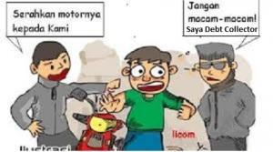 ilustrasi debt collector