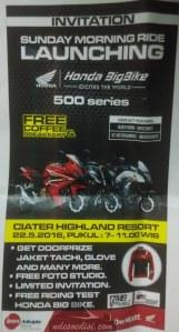 undangan Sunmori Honda Big Bike di Ciater