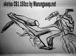 sketsa sonic 150 R
