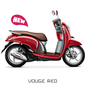 Scoopy warna merah