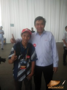 Nde bersama Bp. Margono Tanuwijaya, Marketing Director AHM