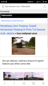 screenshoot artikel waktu itu